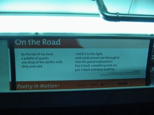 """On the Road,"" a Bus Poem by Ted Kooser on Line 15"