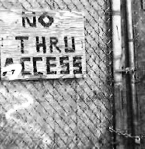 No Thru Access