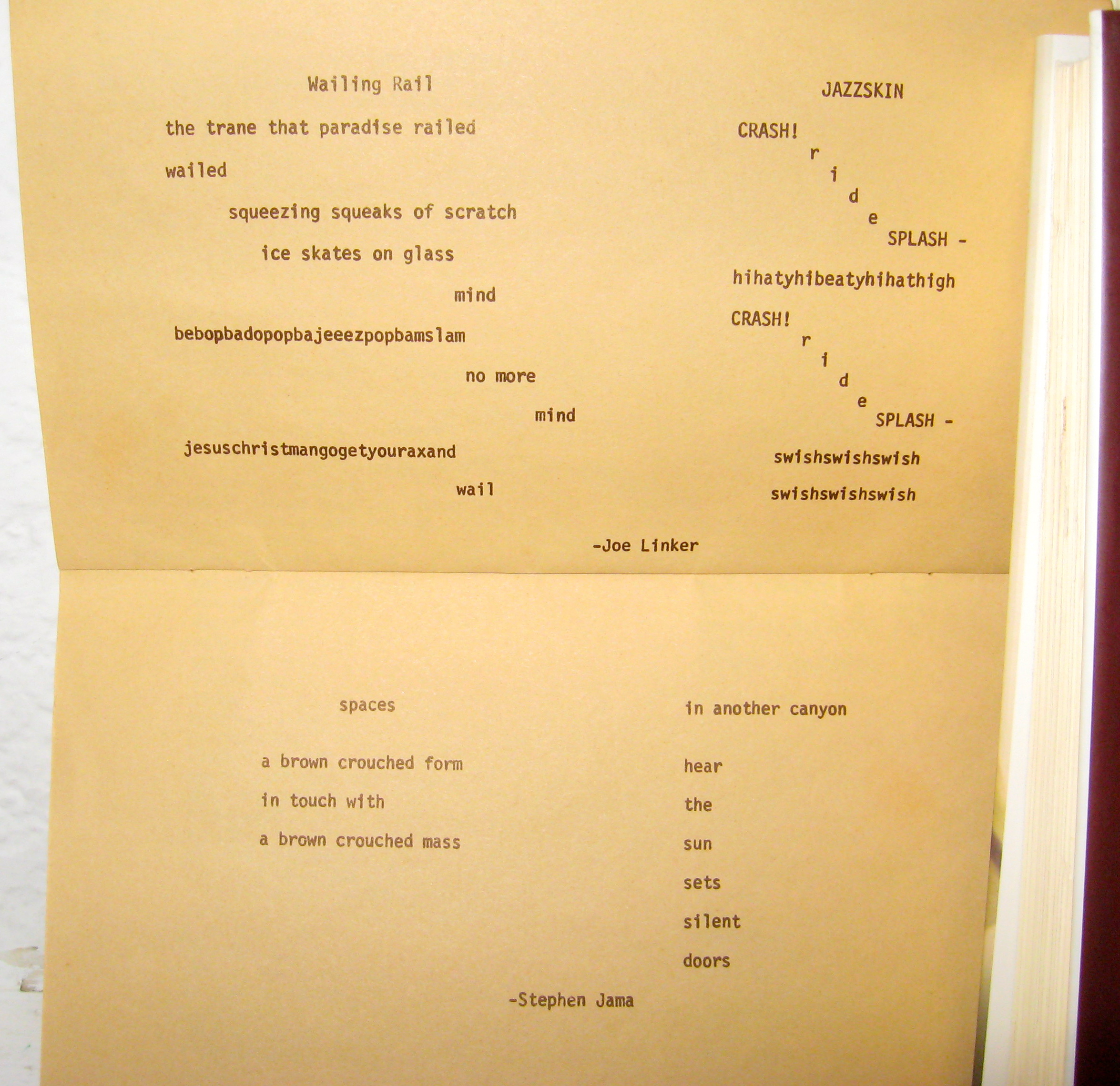 Concrete Poems About Softball Four poems from silent quicksand # 3