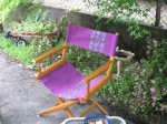 Director's Chair in Purple Paisley