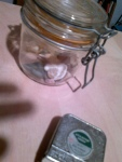 Stones in Glass Jar with Tape Measure