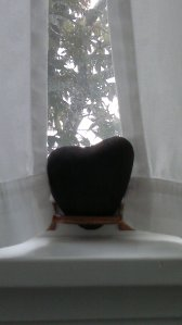 Heart Shaped Rock on Windowsill