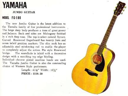 Yamaha Fg  Acoustic Guitar