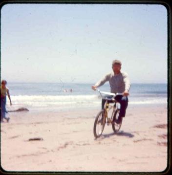 bike and kids at Refugio