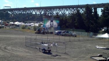 PBR after big concert weekend under Ross Island Bridge