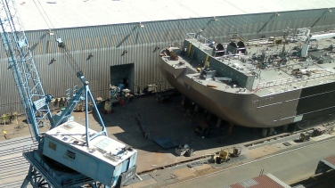 Petro Mariner Barge under construction