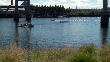 Rowing Crew with Submarine