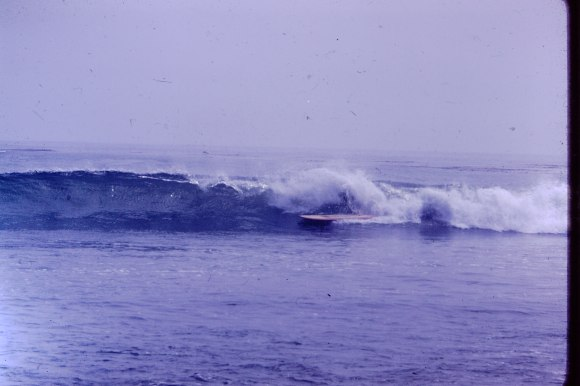 The front cover for Penina's Letters was made from one of my old surfing slides.
