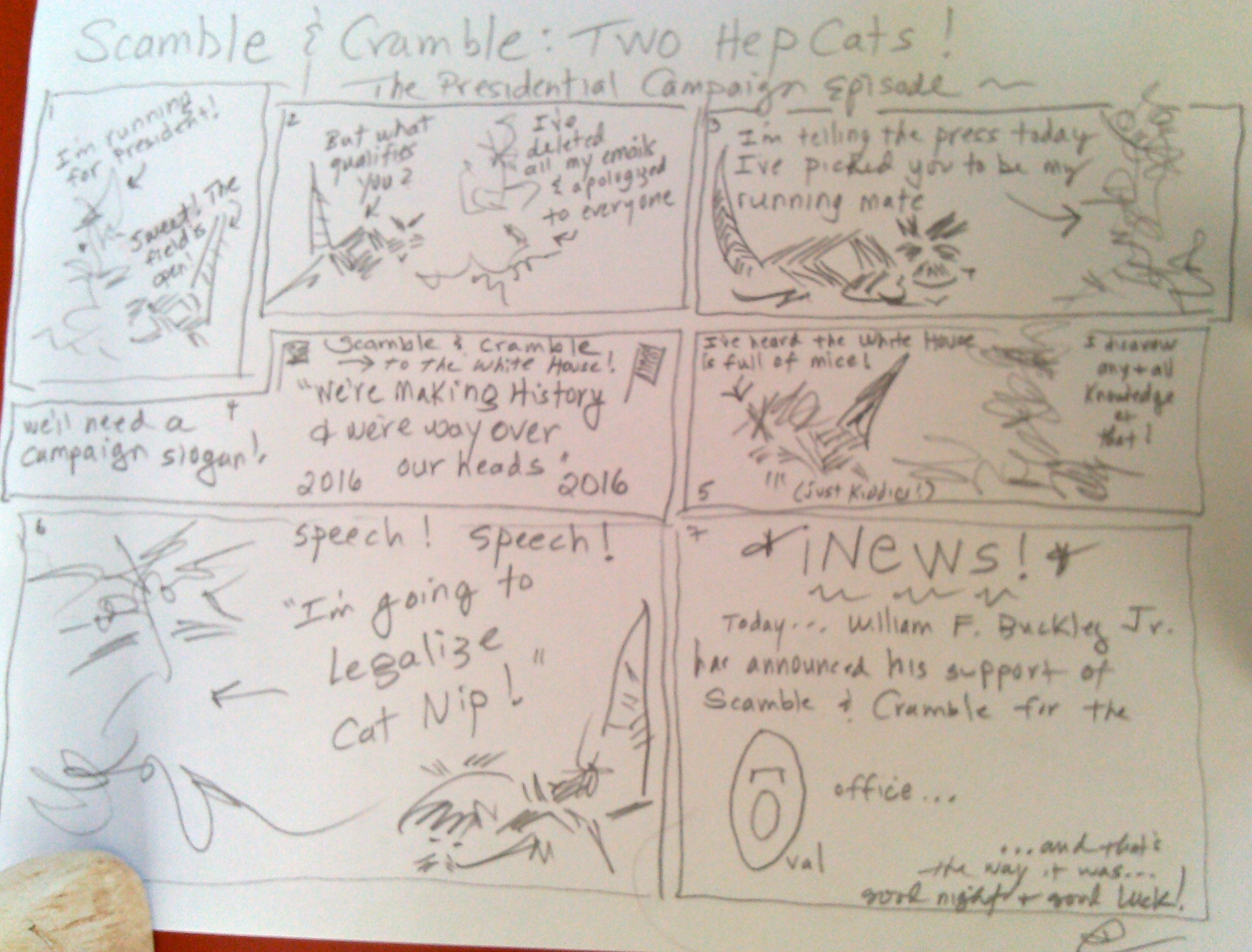 Scamble & Cramble Run for Office 1