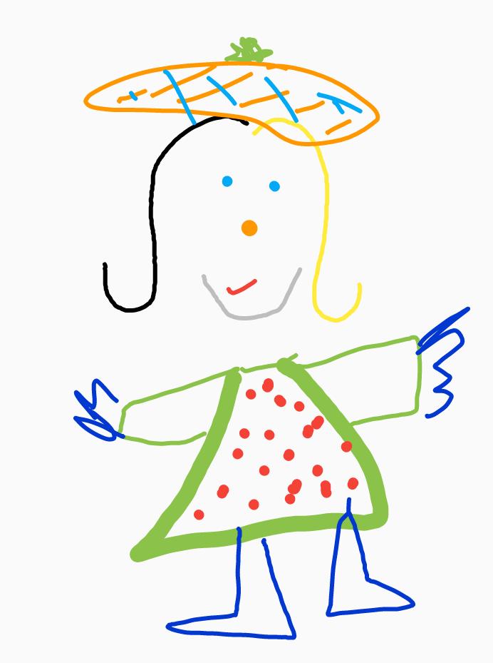 Alma Lolloon cartoon drawing