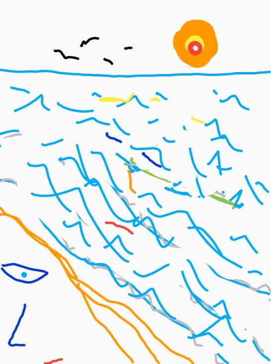 swimming ashore