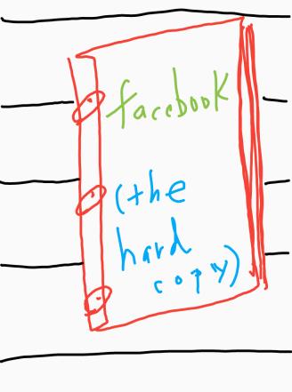 facebook (the hard copy)
